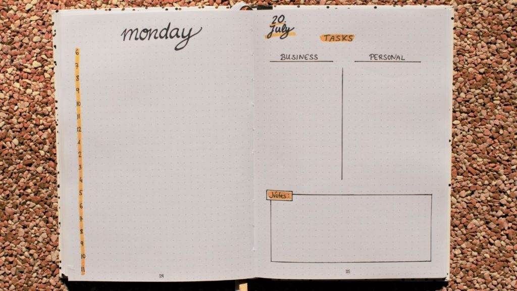 bullet journal daily spreads
