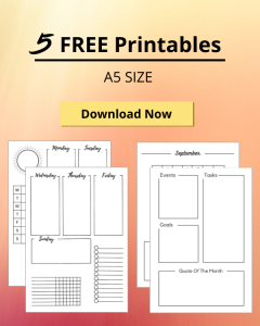 Free Bullet Journal Printables Weekly Spreads