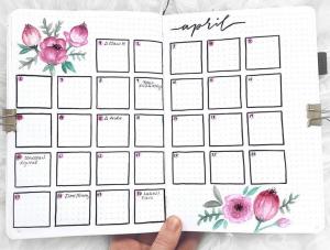 bullet journal monthly layouts by bulletjournalbymarieke