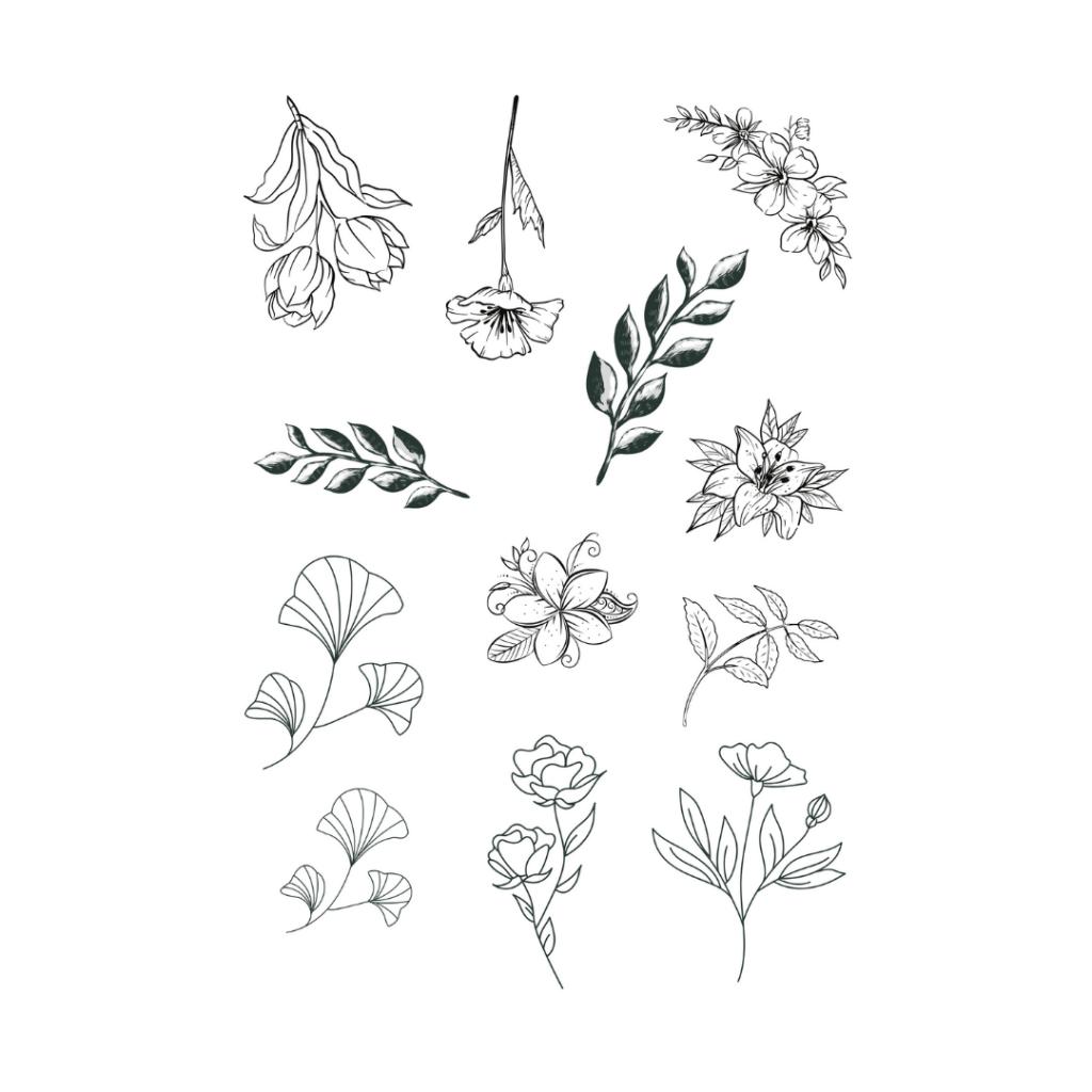 bullet journal printables flower template
