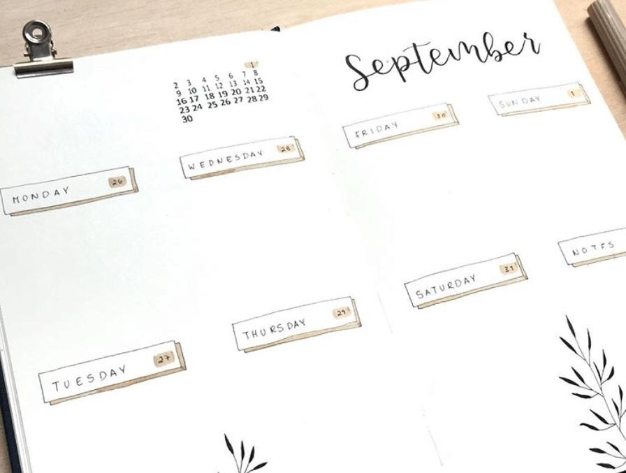 bullet journal weekly spread idea by catsplanner