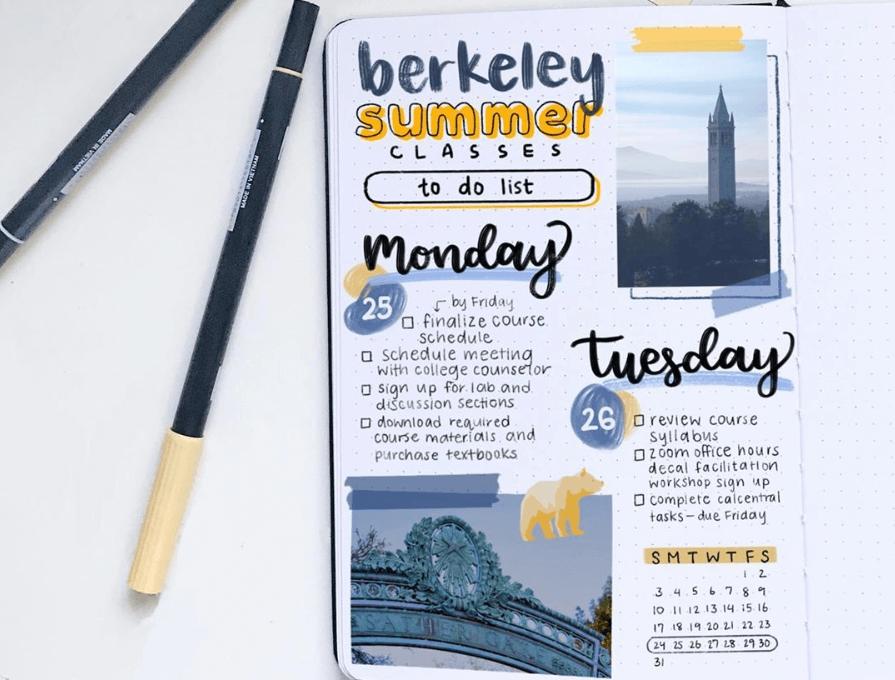 bullet journal weekly spread by doodlecraving