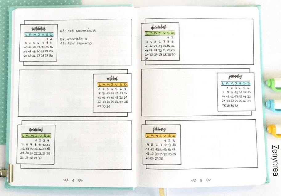 future log layout by zenycrea
